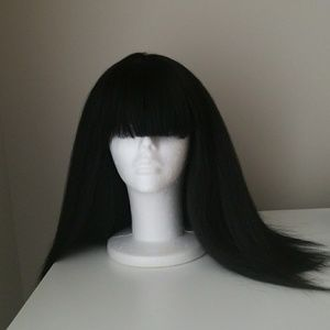 Black Synthetic wig with Bangs